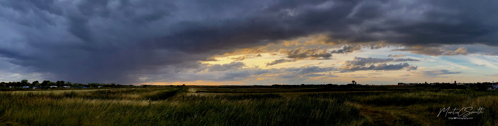 Sunset over the reed beds