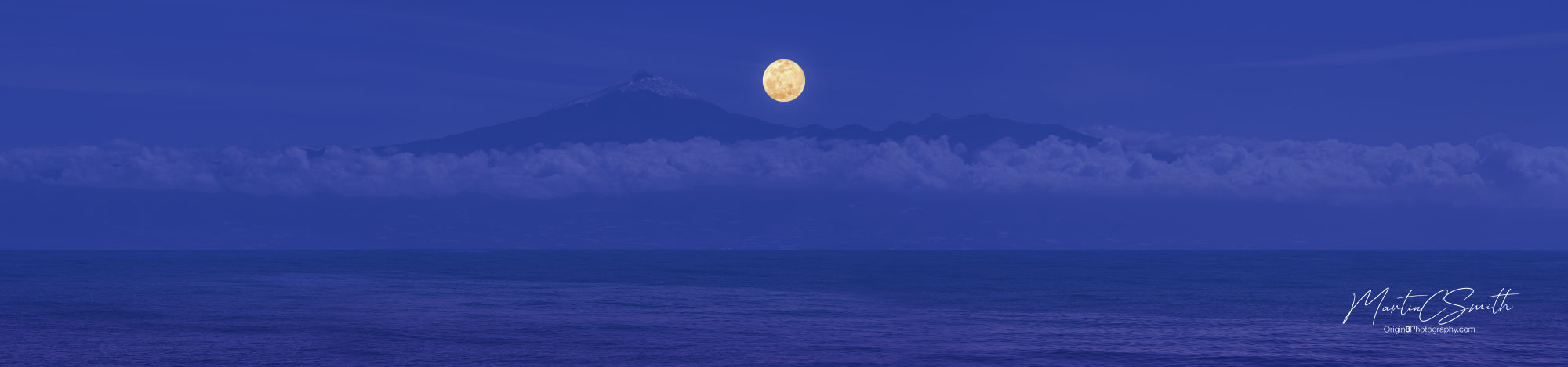 Wolf Moon over Mount Teide